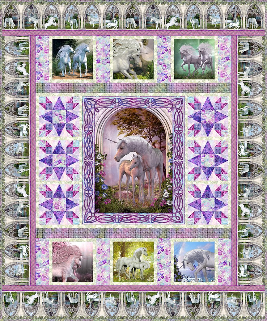 Unicorn Quilt Kit - Preorder Ships April