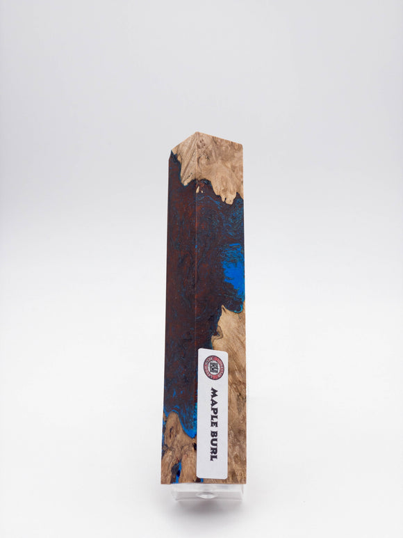Maple burl hybrid pen blank 1486