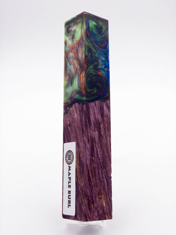 Dyed Maple Burl hybrid pen blank 1610