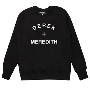 DEREK + MEREDITH sweat black