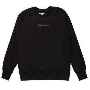 Mind your manners sweat black