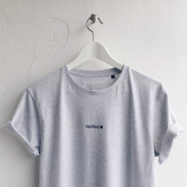 Verified tee grey
