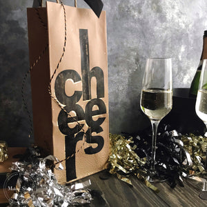 CHEERS GIFT BAG | Using our NEW Cheers Stencil Bundle