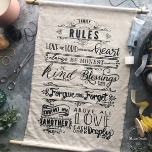 DIY Drop Cloth Banners