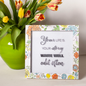 MAKE YOUR OWN CUSTOM FLORAL FRAME