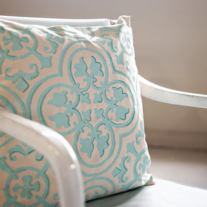 Make Your Own Stylishly Stenciled Trompe l'Oeil Pillow