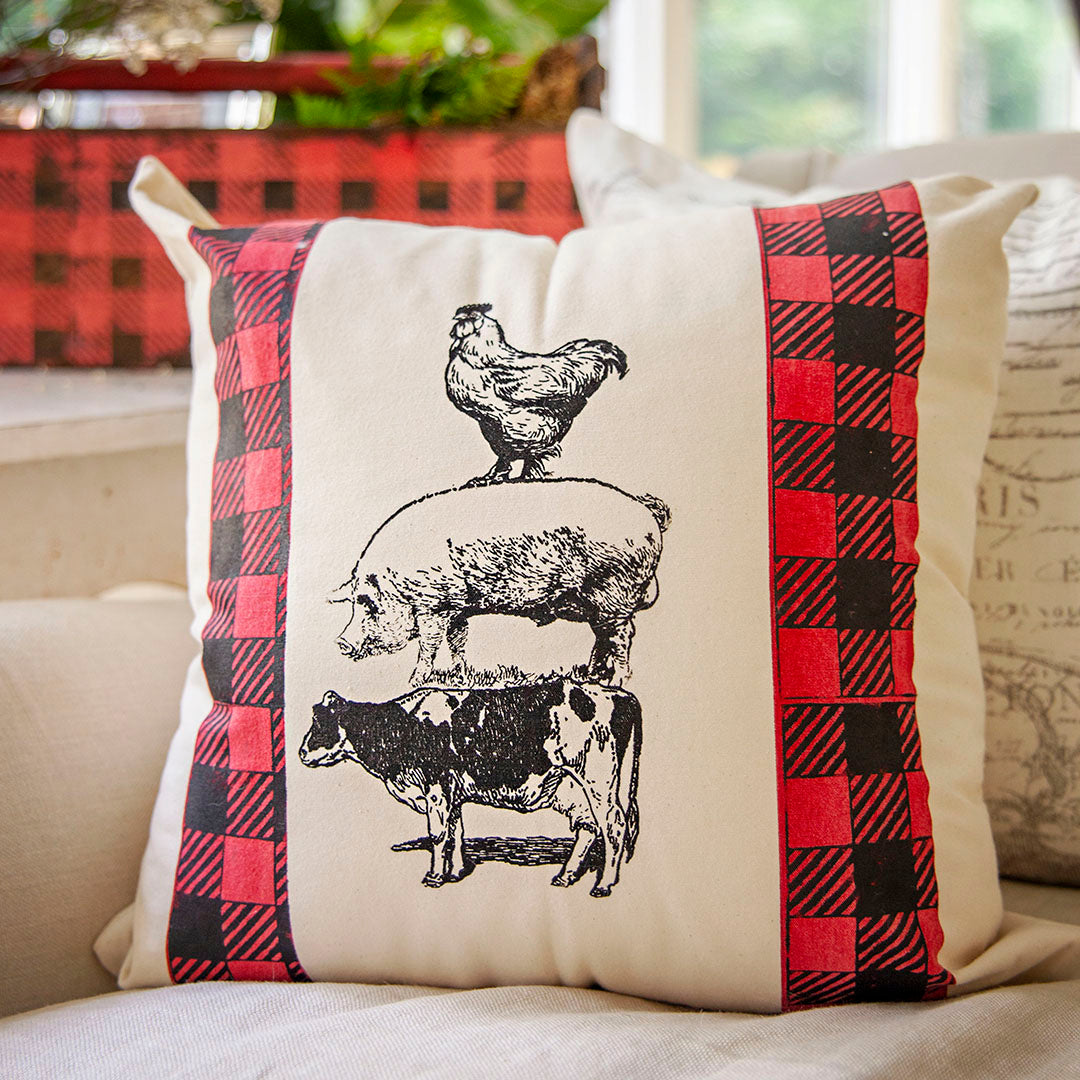 DIY Farm Pillow