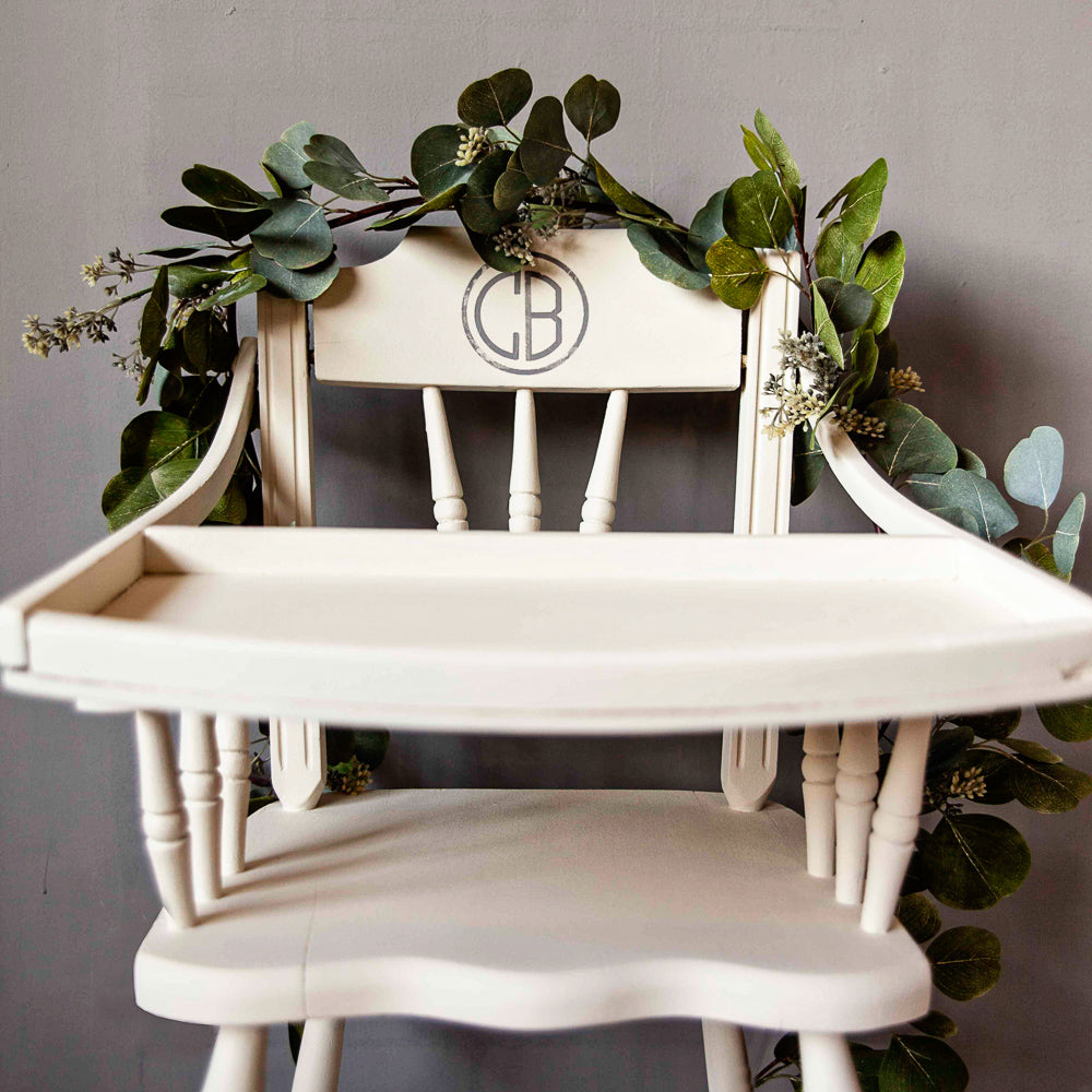 A Fun & Easy Vintage High Chair Makeover