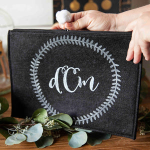 Make a Simple Monogrammed Pouch for You & A Loved One