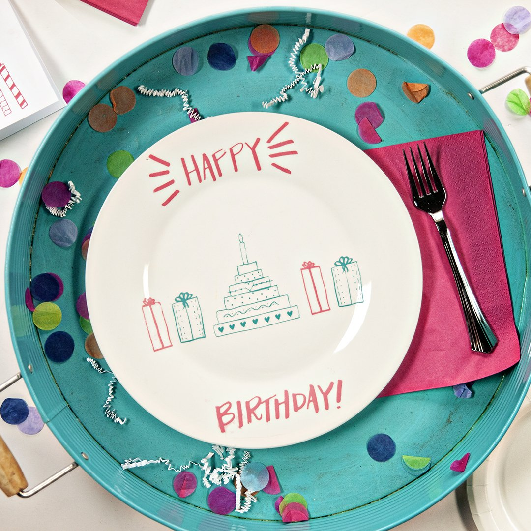 DIY AN ADORABLE HAPPY BIRTHDAY PLATE