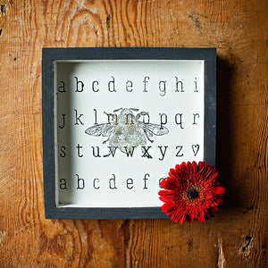 Make this Cute DIY Alphabet & Bee Wall Art in under 40 Minutes!
