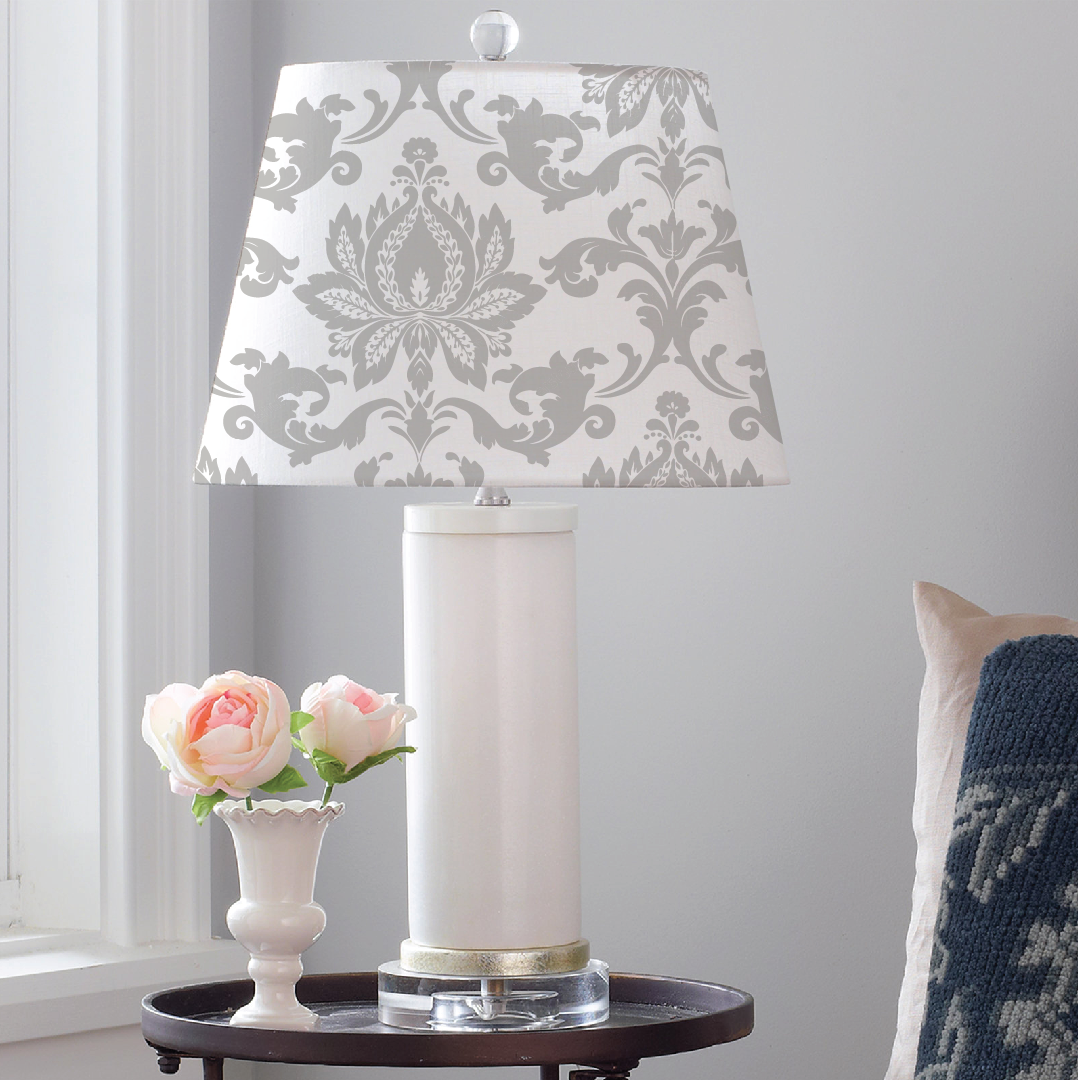 DIY Fortuny Damask Lampshade