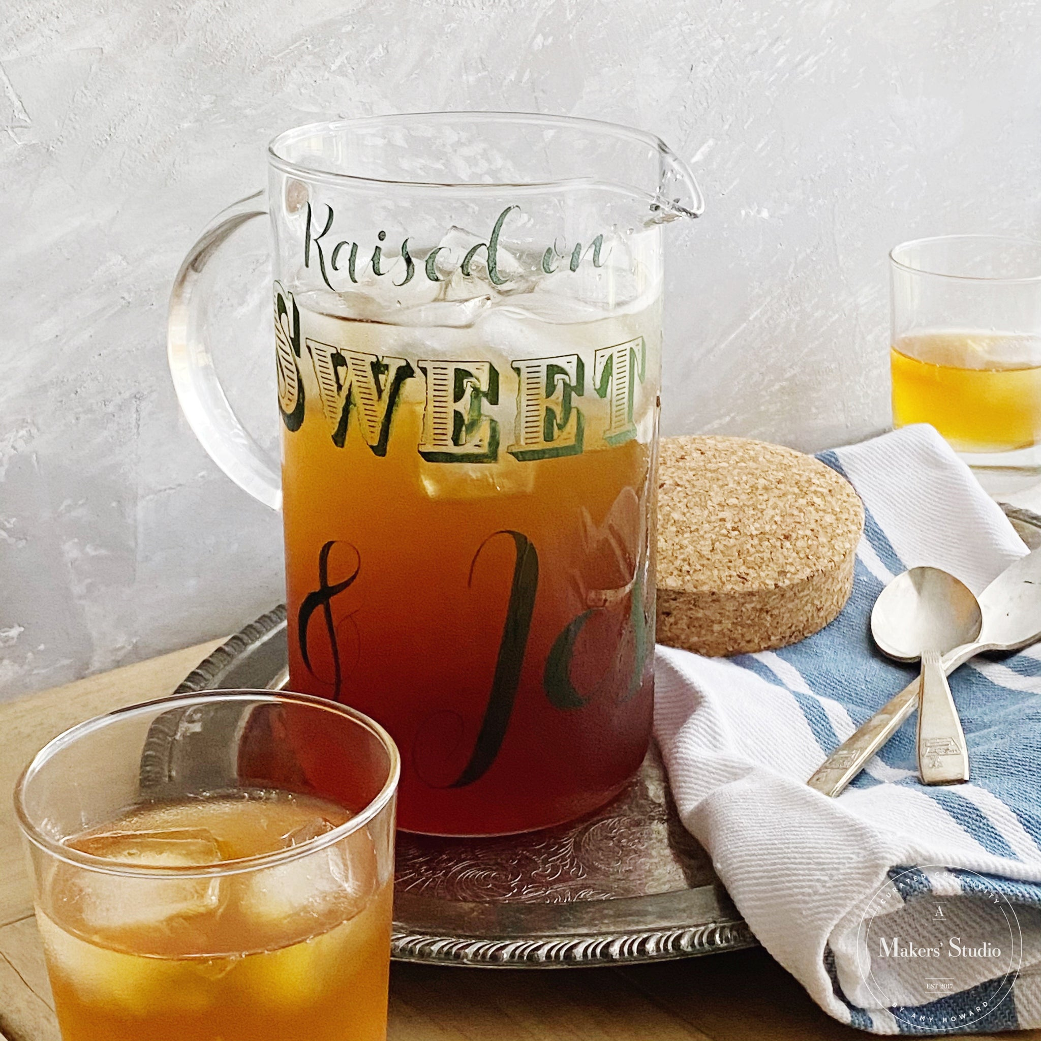 30 Second DIY Sweet Tea Pitcher