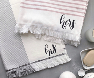 DIY HIS & HERS TOWELS