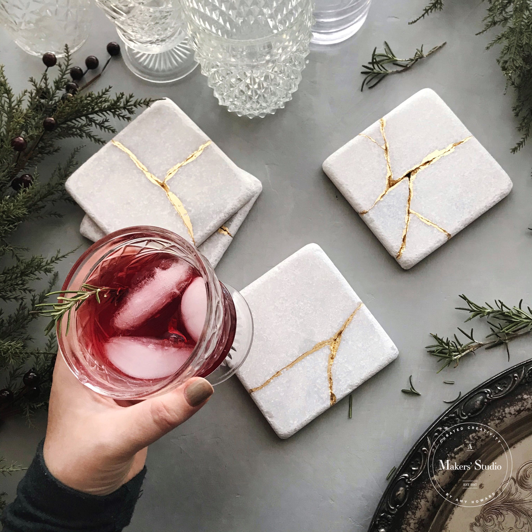 How to Make Kintsugi Coasters