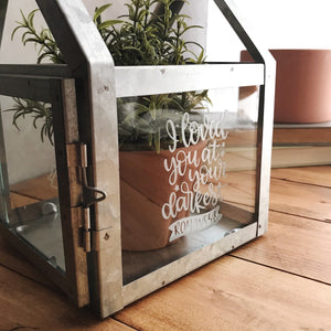 DIY ETCHED LANTERN