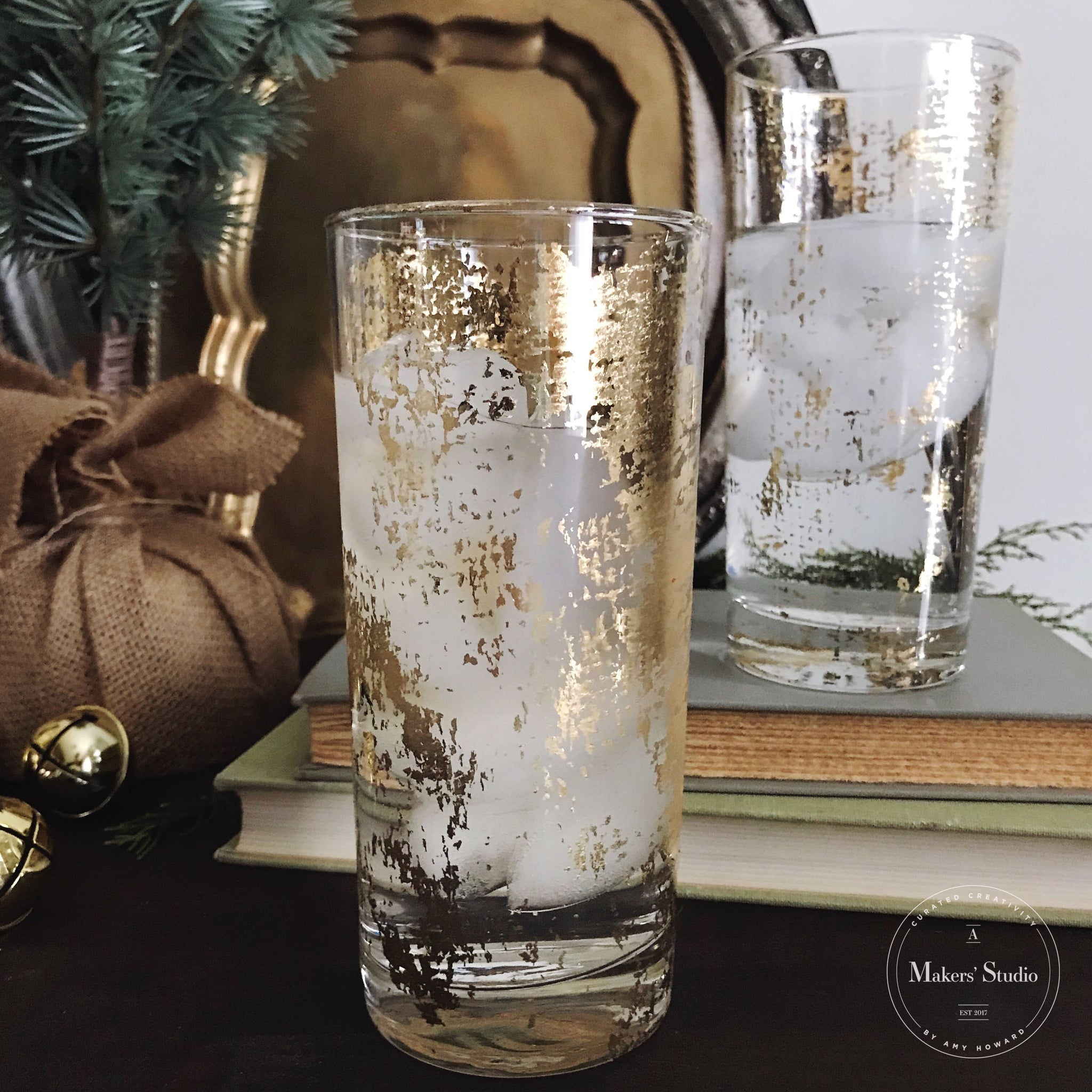 How To Create Gilded Glasses Using Burlap
