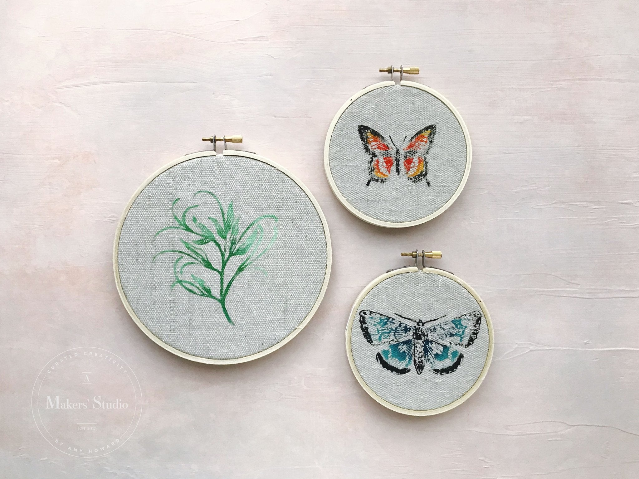 DIY SUMMER BUTTERFLY HOOPS