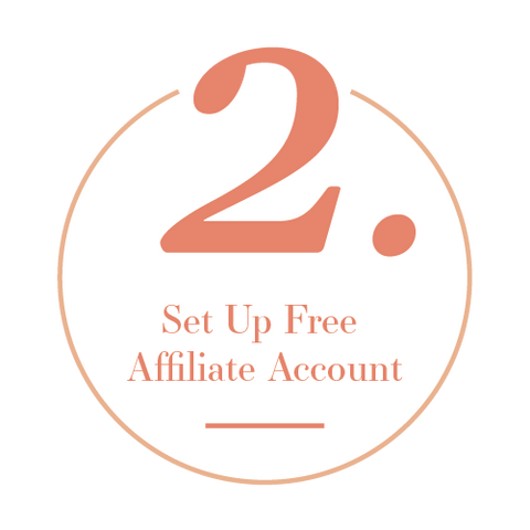 Set up free affiliate account