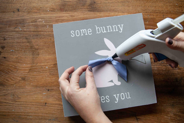 One of our favorites at A Makers' Studio is this Some Bunny Loves You project, which uses some simple stencils and paint to create lovely wall art.