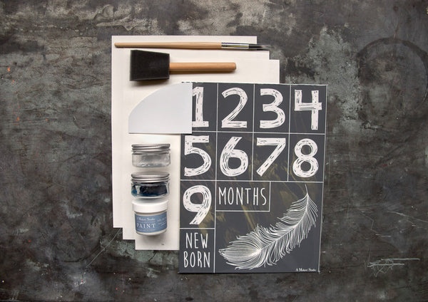 Look at that beautiful work of art! With the help of this Maker Monday DIY kit, you'll have a lovely feather painting (and frame) to show off in less 2 hours. If you want more step-by-step directions or you like following along as Amy works, check out this week's Maker Monday video.
