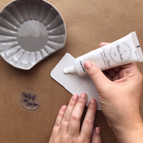 Applying Ceramic Paint | A Makers' Studio