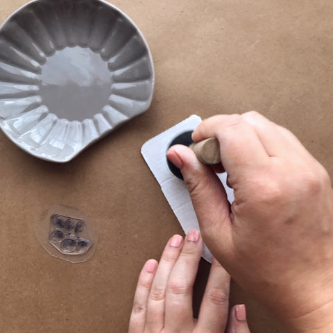 Using A Foam Brush With Ceramic Paint | A Makers' Studio