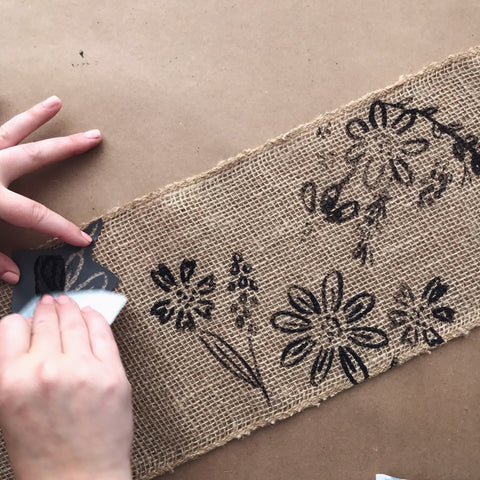 Painting Burlap With Gel Art Ink - Fabric Paint | A Makers' Studio