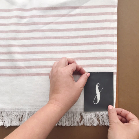 Using A Mesh Stencil On A Towel | A Makers Studio