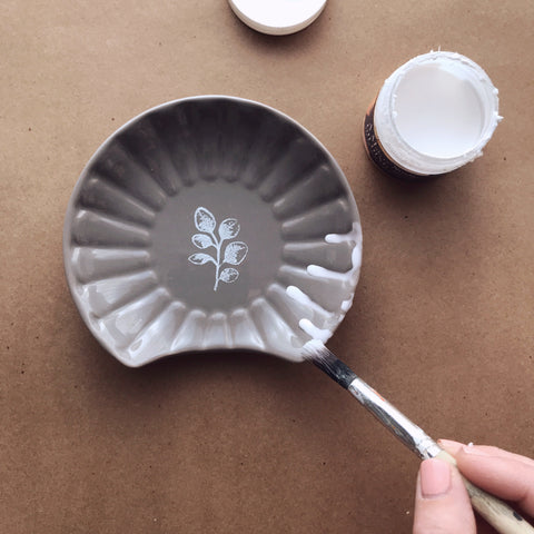 Applying Size With An Artist Brush | A Makers' Studio