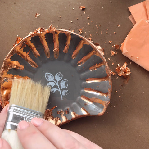 Removing Excess Gold Lead With A Chip Brush | A Makers' Studio