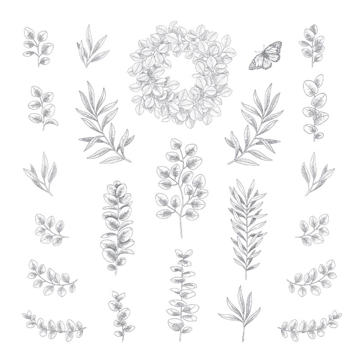 Clear Stamp - Foliage - 12x12