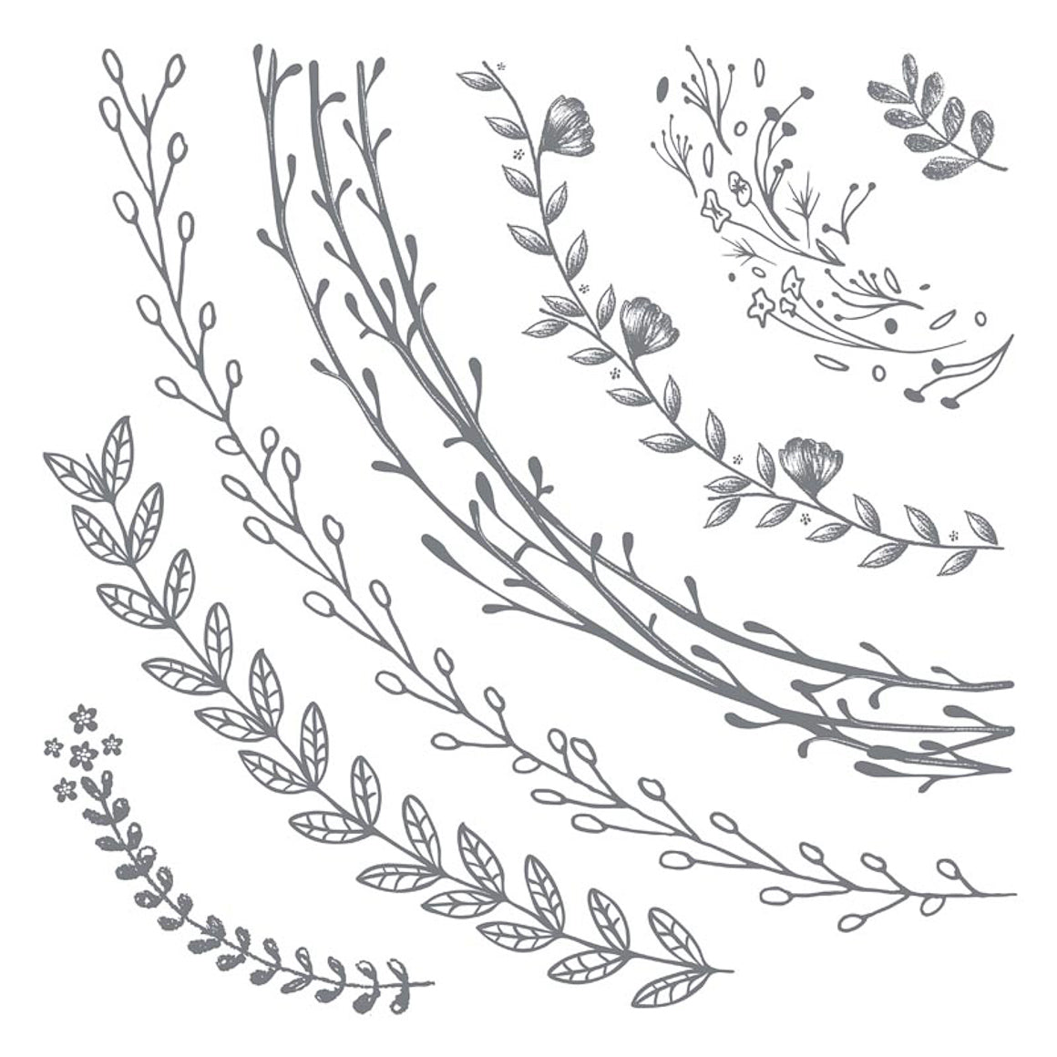 Clear Stamp - Wreath Sections - 12x12