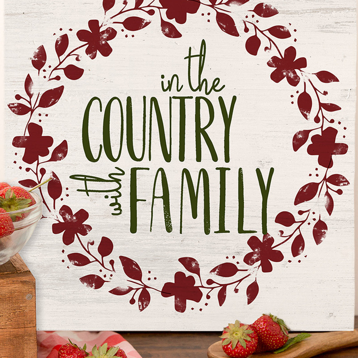 Mesh Stencil - Wreath Trio Country - 12x12