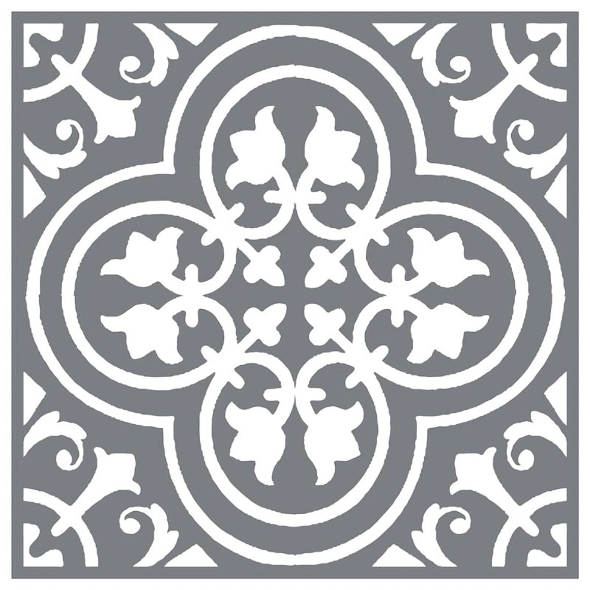 Mesh Stencil - Floor Tile Traditional - 12x12