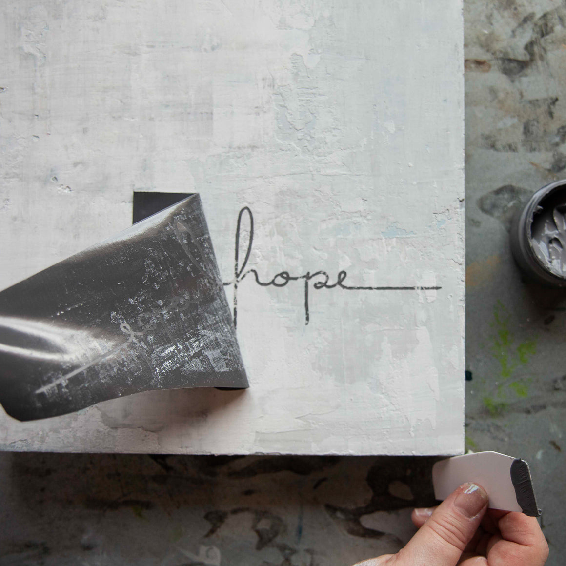Mesh Stencil - Hope Faith - 8.5 x 11