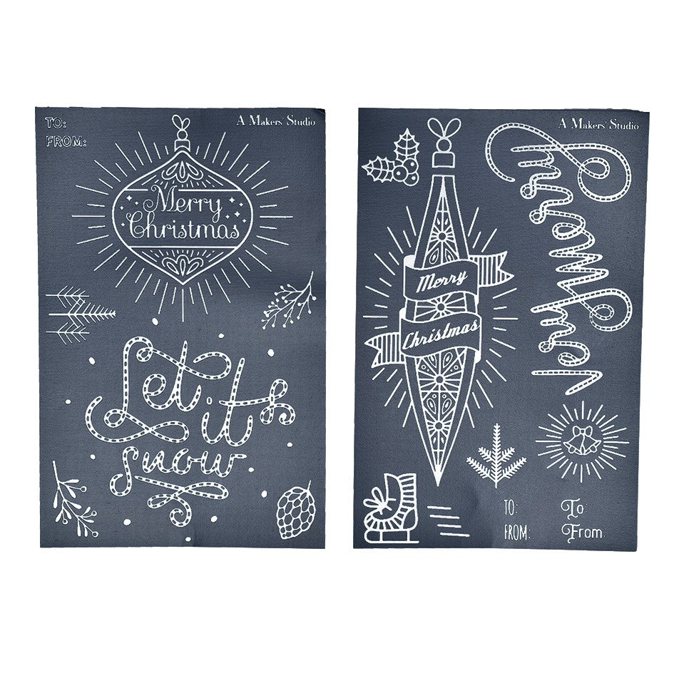 Mesh Stencil - 2 pack - Let It Snow - 5.5 x 8.5