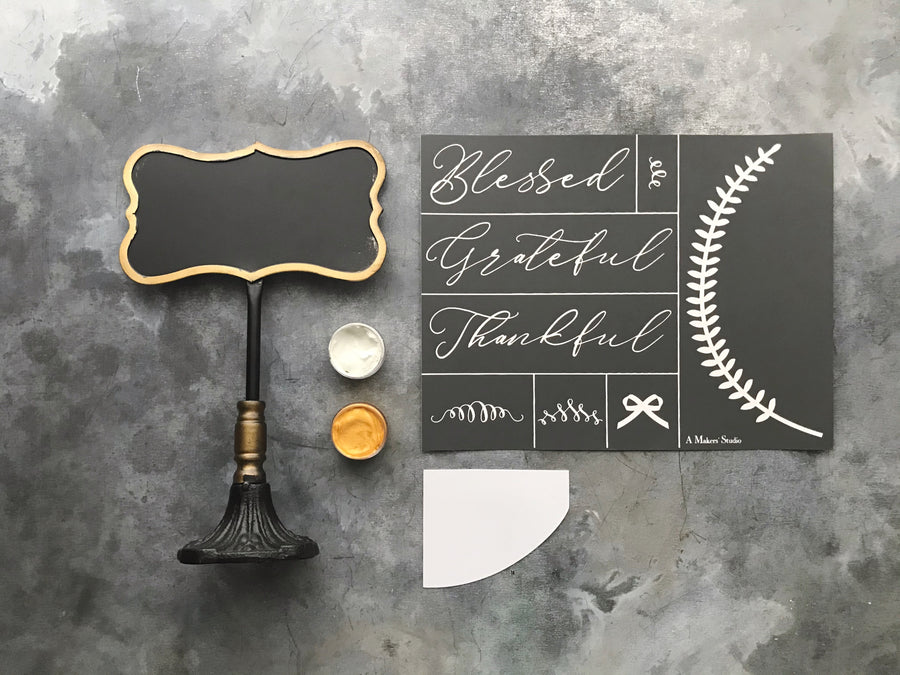 Blessed Chalkboard Kit