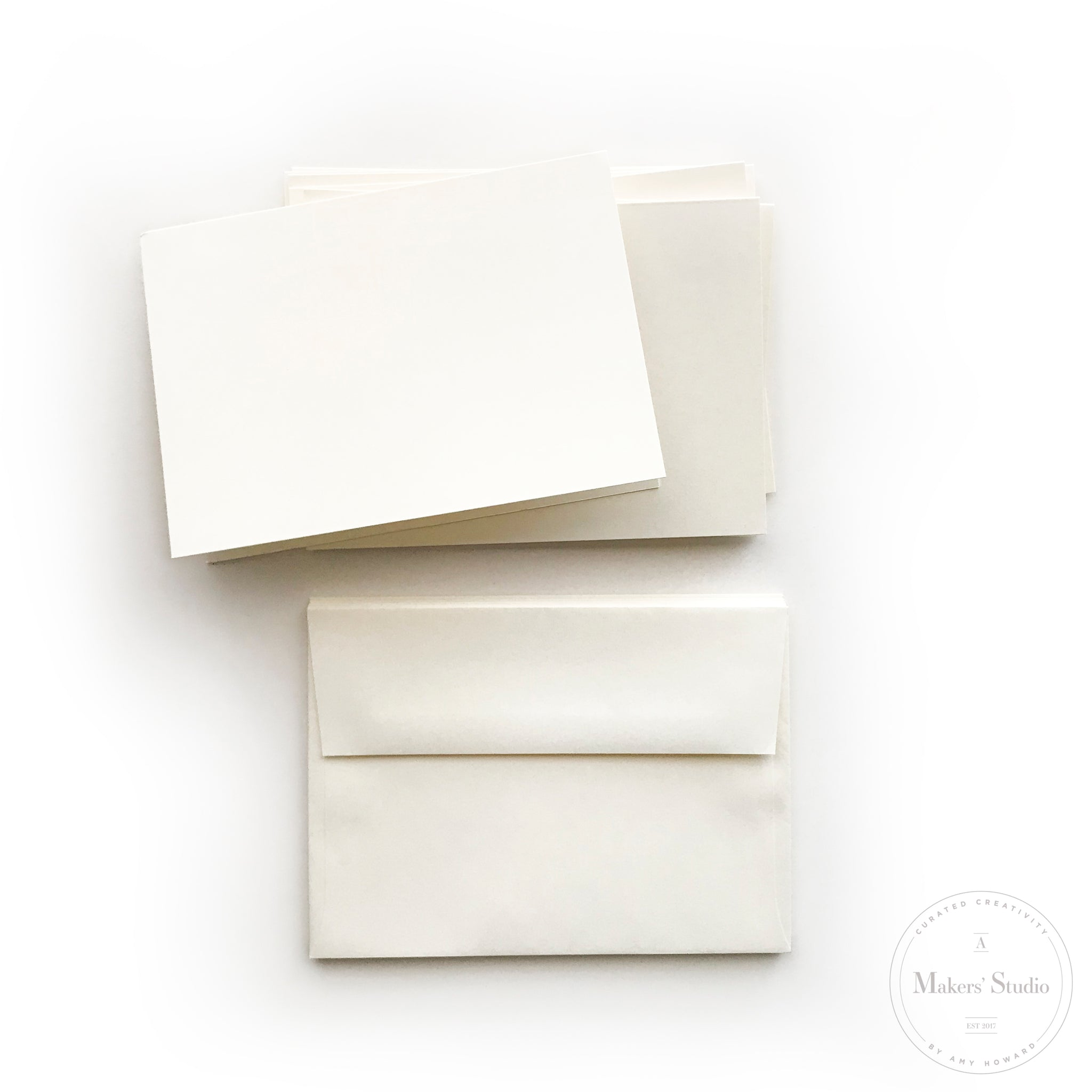 Set of 8 Folded Notecards and Envelopes 5x7