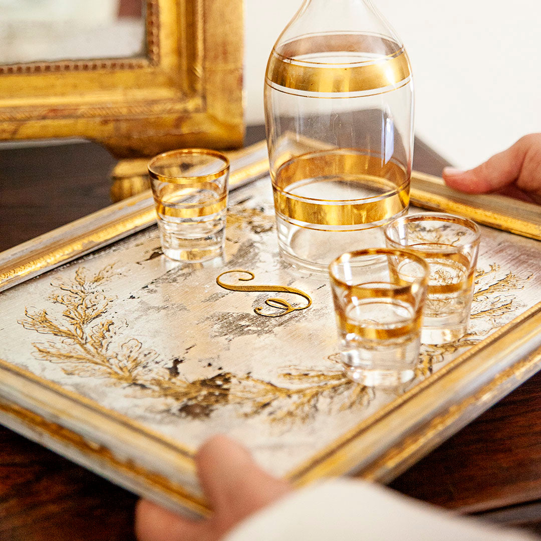 DIY Gilded Glass