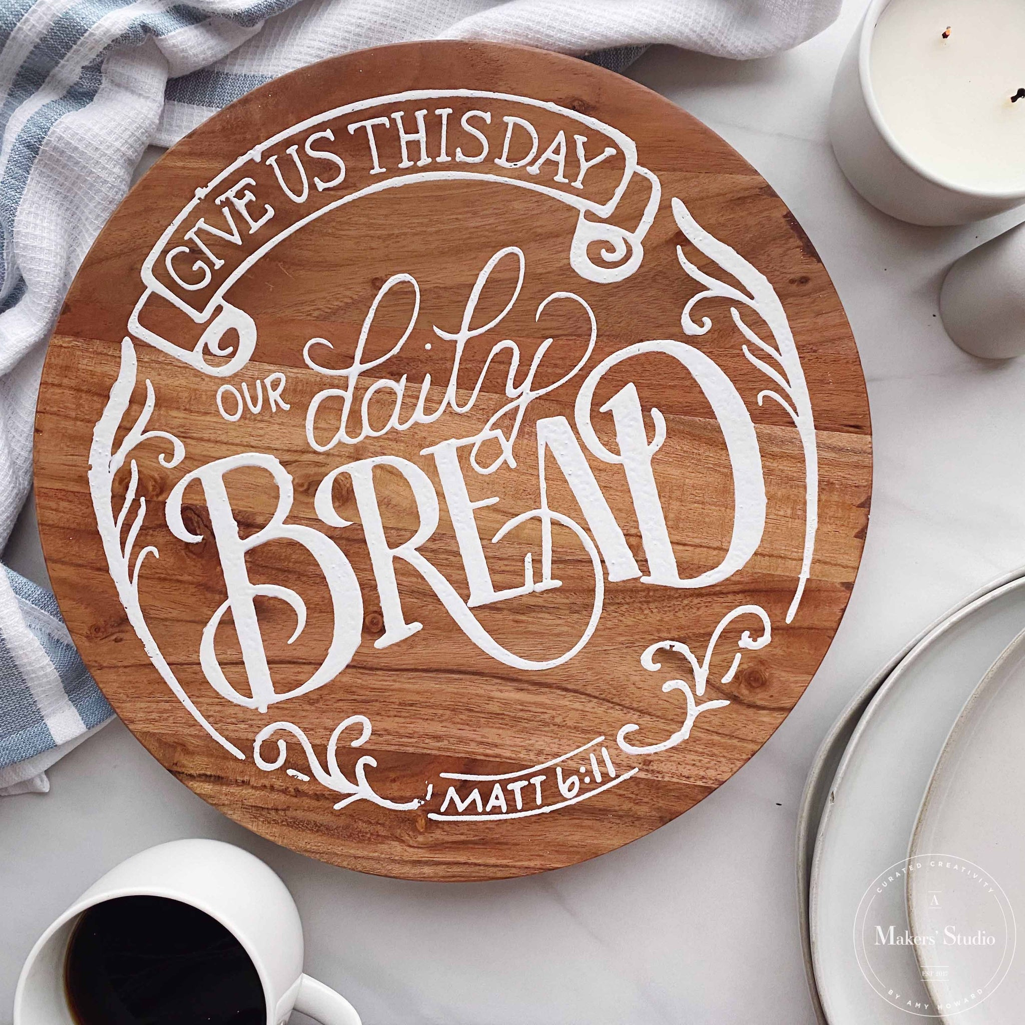 Mesh Stencil - Our Daily Bread 12x12