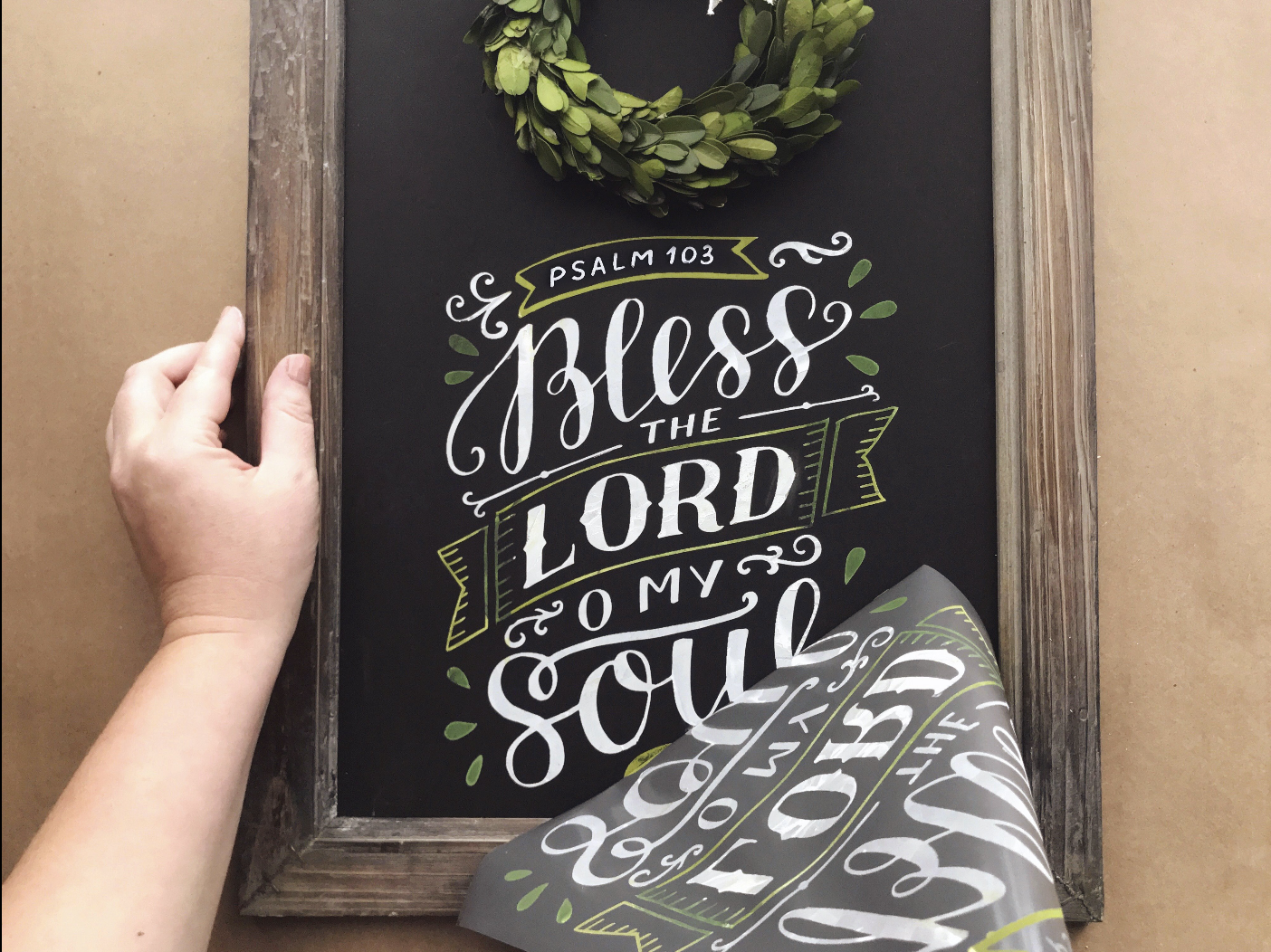 Small Bless the Lord Chalkboard Kit (12x18)