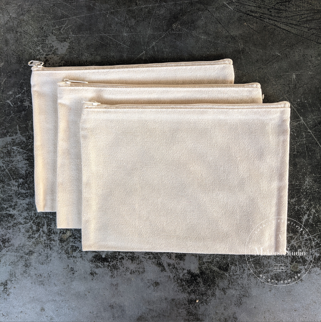 Set of 3 Canvas Pouches