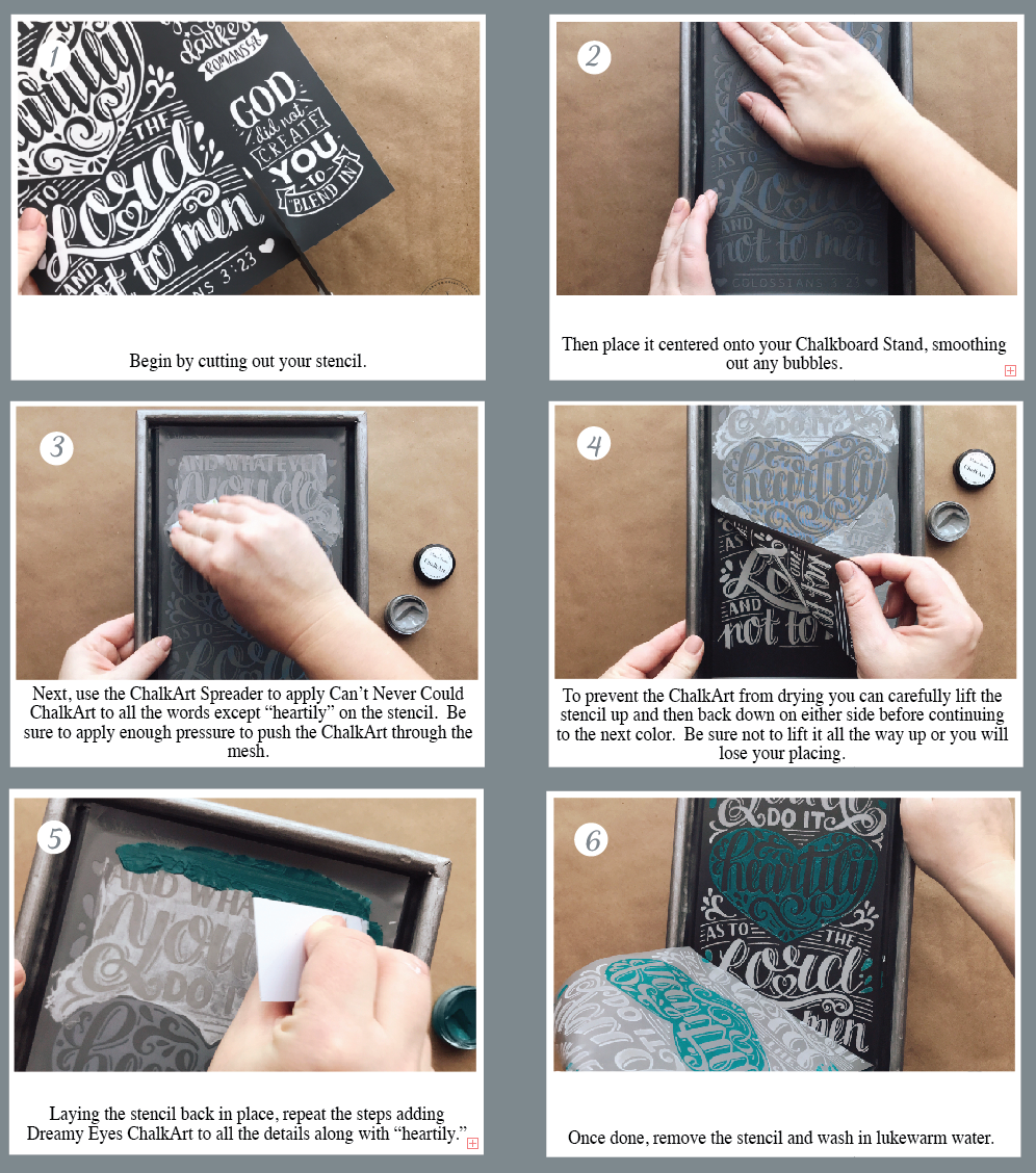 Inspirational Metal Chalkboard Kit