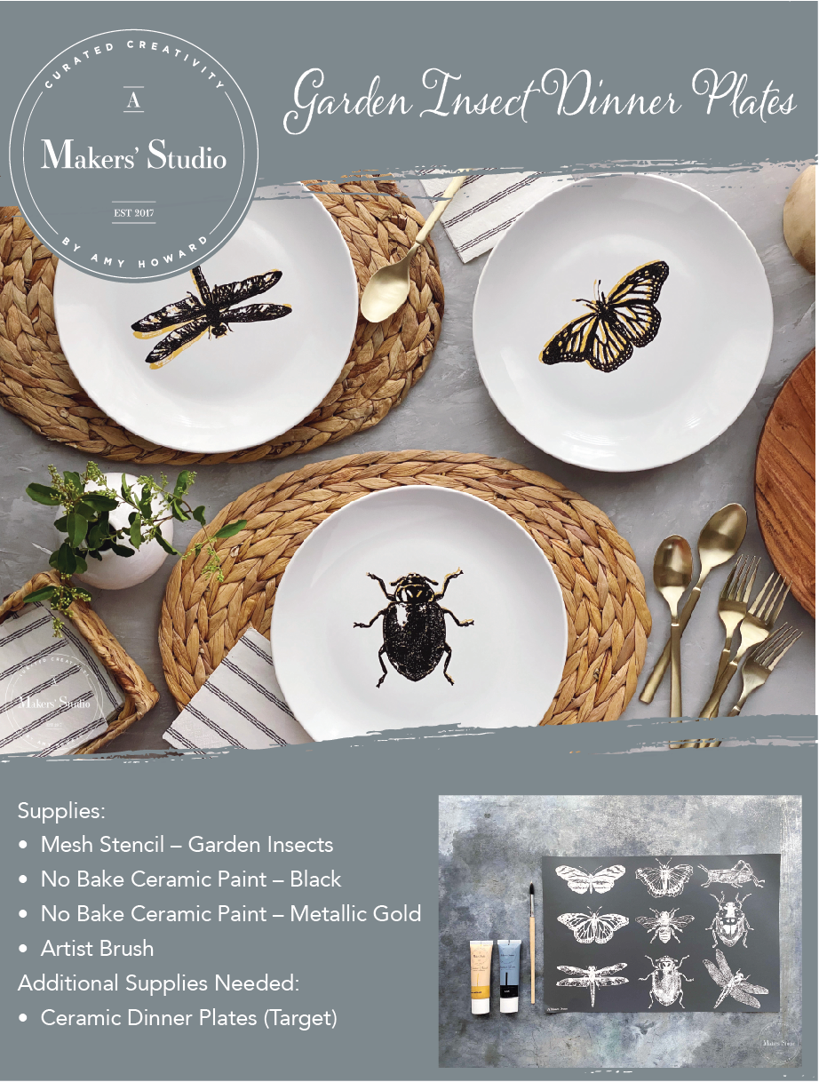 Garden Insect Dinner Plate Project