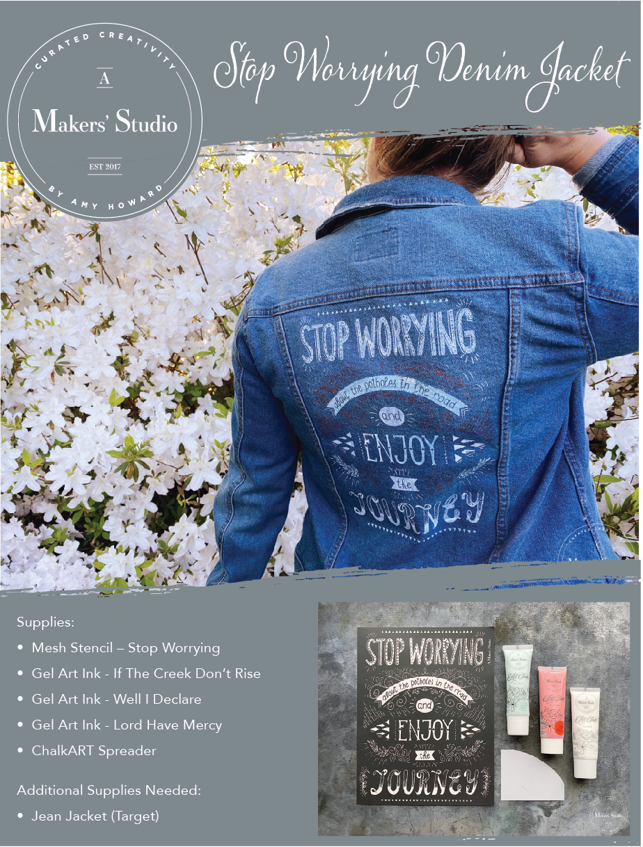 Stop Worrying Denim Jacket Project