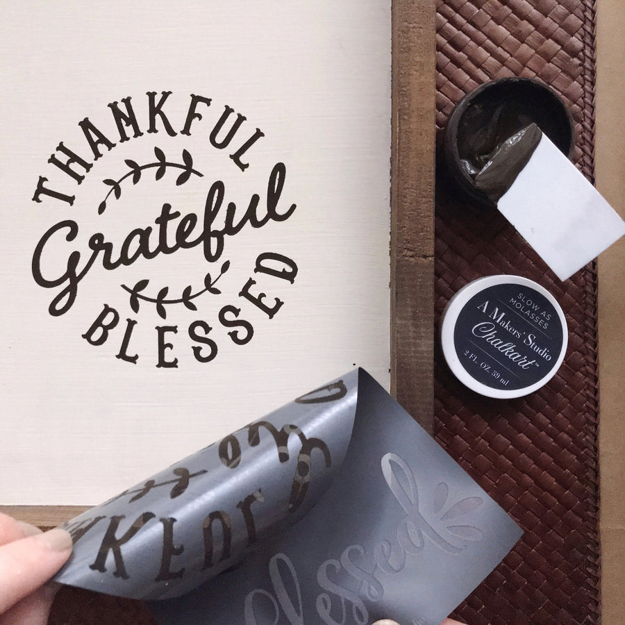 Mesh Stencil - 2 pack - Thankful, Grateful, Bless - 5.5 x 8.5