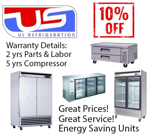 US Refrigeration by National restaurant equipment and supply