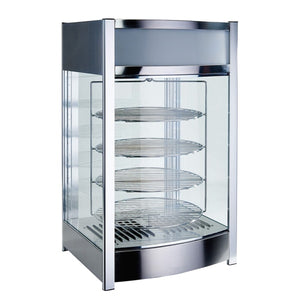 "Winco EDM-2 17 3/4"" Full Service Countertop Heated Display Case - (4) Shelves, 120v [Usually ships within 4 - 8 business days]"