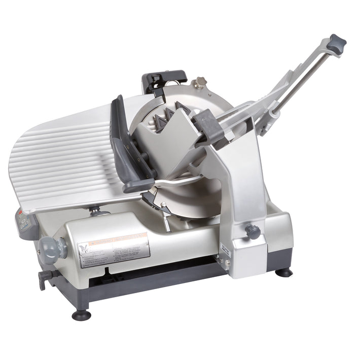 "Hobart HS9N-1 Auto Heavy Duty Slicer w/ 13"" Knife & Top Mount Sharpener, Anodized Finish"